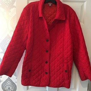 J Jill plus size red jacket with buttons. 3X